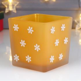 "Candle Holder "" Snowflakes"""