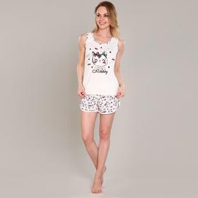 Пижама (майка, шорты) женская «Кети» цвет микс, размер 54