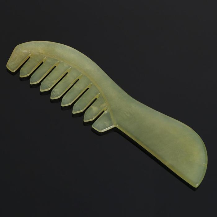 Гребень с рукоятью из нефрита, 13,5 x 3,6 x 0,6 см