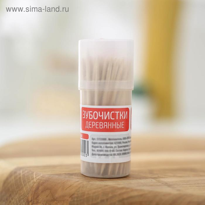 "Toothpicks ""Dolyana"" from birch, 100 PCs / pack."