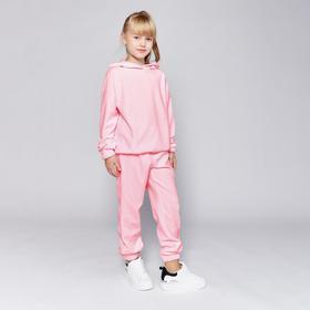 Комплект для девочки (худи, брюки) MINAKU: Casual Collection KIDS цвет св-розовый, рост 104