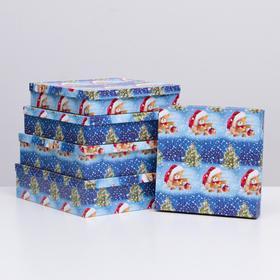 """Набор коробок 5 в 1 """"Мишки НГ"""", 34 х 34 х 9 - 26 х 26 х 5 см"""