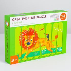 Детские развивающие пазлы из палочек «Животные» 19×28×4 см