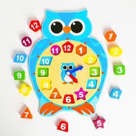 """Детские развивающие часы """"Сова"""" 30х22,5х2,3 см"""