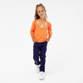 Брюки для девочки, цвет фиолетовый, рост 110 см
