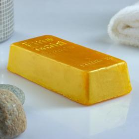 """Фигурное мыло """"Слиток золота"""" 100гр"""