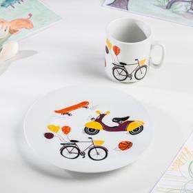 "Набор посуды 2 предмета ""Экстрим"": кружка, тарелка"