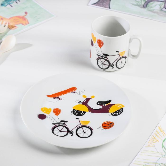 Набор посуды «Экстрим», 2 предмета: кружка 300 мл, тарелка d=20 см - фото 495814