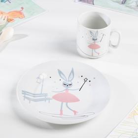 Набор посуды «Феечка», 2 предмета: кружка, тарелка