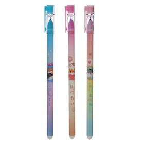 Pen gel pen WRITE, ERASE of 0.38 mm core blue body with a pattern MIX