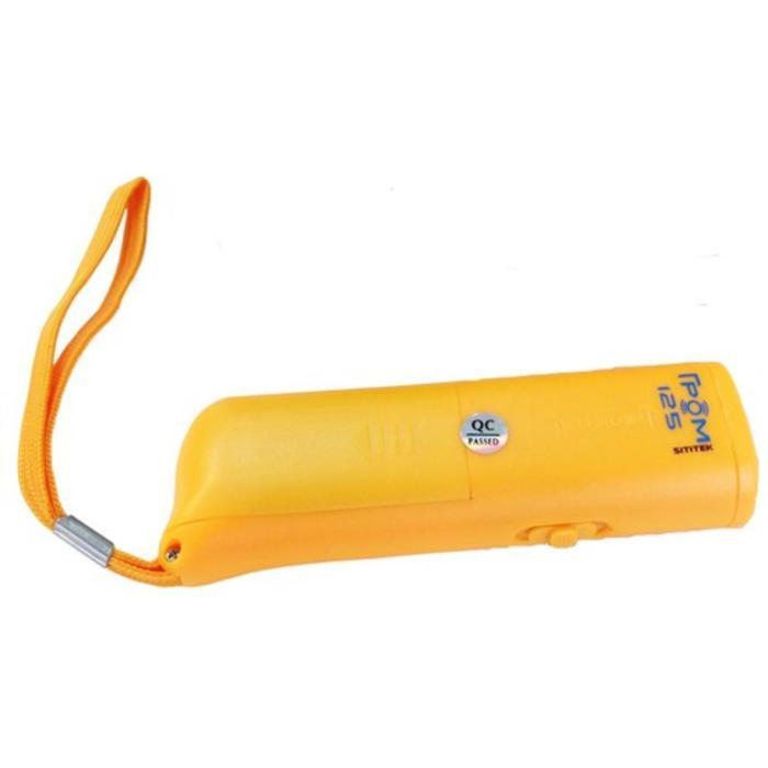 """Отпугиватель собак SITITEK """"ГРОМ"""" 125, ультразвуковой, + световые вспышки, до 10 м, жёлтый"""