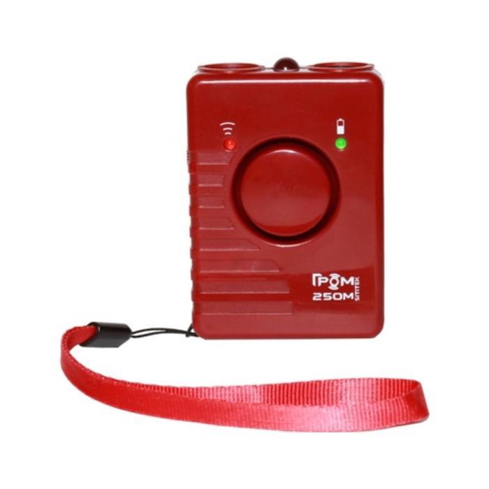 """Отпугиватель собак SITITEK """"ГРОМ"""" 250M, ультразвуковой, + световые вспышки, до 20 м, красный"""