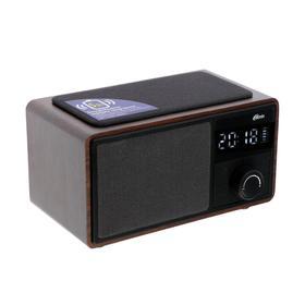 Часы радиобудильник Ritmix RRC-880, FM, microSD, беспров заряд, BT v5.0, 1200 мАч, черный