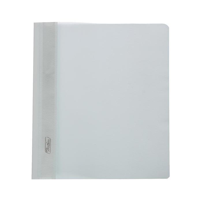 Папка-скоросшиватель А5, 140/180 мкм, пластиковая, белая