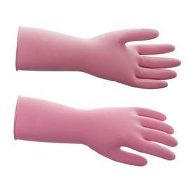 Перчатки латексные многоразовые, L, красные