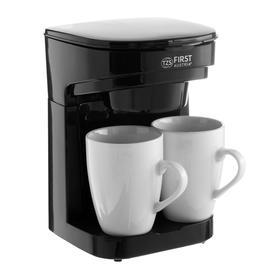 Кофеварка FIRST FA-5453-4, капельная, 450 Вт, 0.25 л, 2 чашки, чёрная