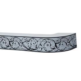Карниз потолочный трёхрядный «Вензель», 300 см,  цвет белый с чёрным