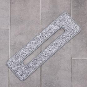 Насадка для плоской швабры с вертикальным отжимом, 38×12 см, ммикрофибра, цвет серый