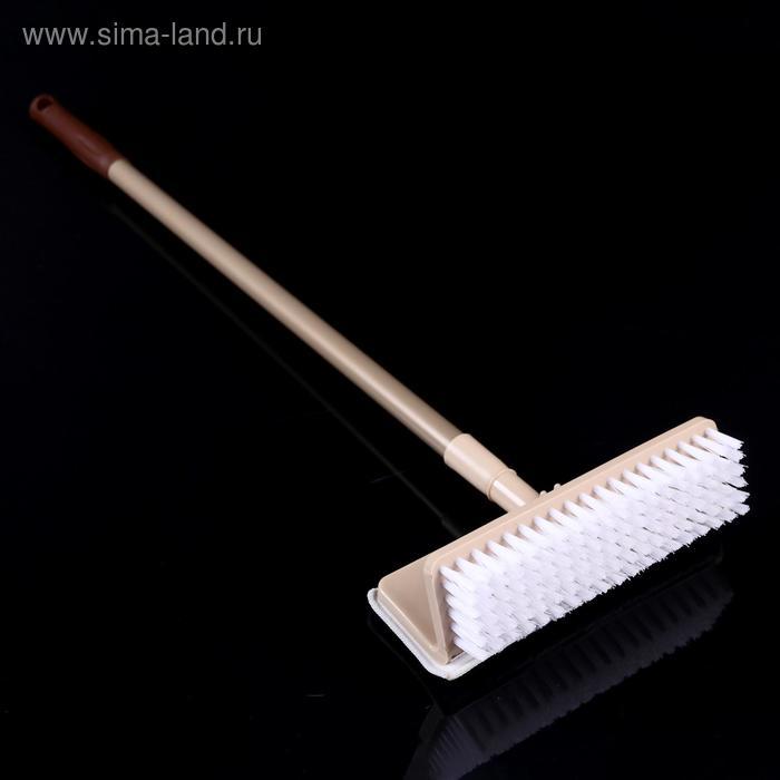 Floor brush 2 in 1, painted handle 23x7, 7x77 cm