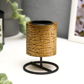 """Candle holder wood, metal for 1 candle """"Column"""" 9, 2x7x7 cm"""