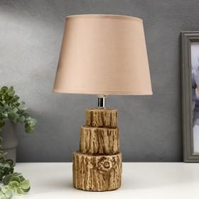 Лампа настольная 16025/1 E14 40Вт коричневый 20х20х33,5 см