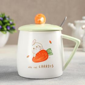 {{photo.Alt || photo.Description || 'Кружка «Морковка», 450 мл, 12×6×12,6 см, с керамической крышкой и ложкой, рисунок МИКС'}}