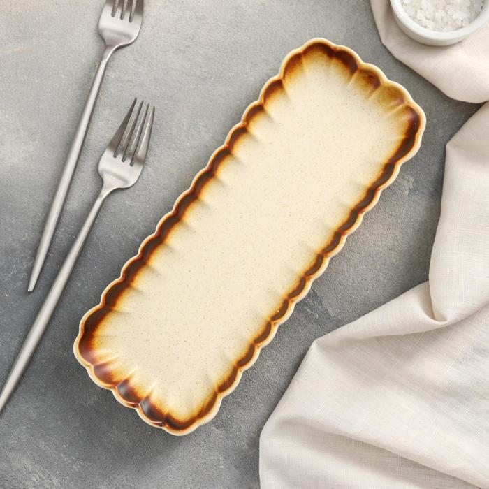 Блюдо прямоугольное «Циркон», 26,5×10×2,5 см - фото 251165