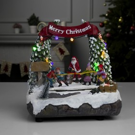 """Фигура световая """"Новогодние забавы"""", 13 LED, USB, музыка, динамика, ААА*3 (не в компл.)"""
