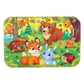 Пазл для ванны (головоломка), «Лесные зверята», 6 деталей
