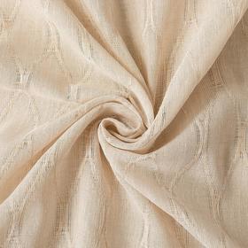 """Ткань портьерная """"Плавные ромбы"""" бежевый, ш.280см, дл.34.5 м, пл.160 г/м2, 100% п/э"""