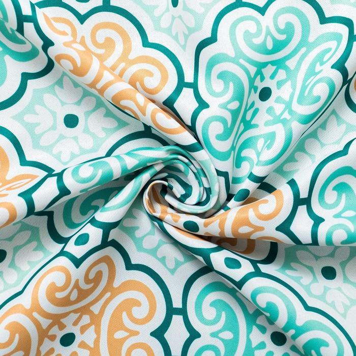 "Ткань портьерная ""Дамаск"" зеленый, ш.280 см, дл.71 м, пл. 210 г/м2, 100% п/э"