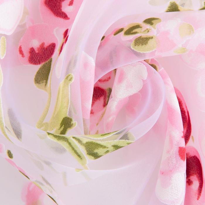 """Ткань тюлевая """"Виноградная лоза"""" розовый, ш.280 см, дл.57,8 м, пл. 60 г/м2, 100% п/э"""