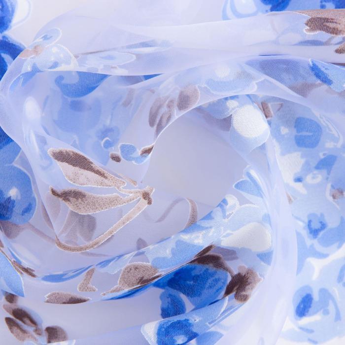 "Ткань тюлевая ""Виноградная лоза"" синий, ш.280 см, дл.40м, пл. 60 г/м2, 100% п/э"