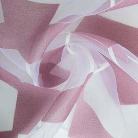 """Ткань тюлевая """"Абстракция"""" лиловый, ш.280 см, дл.57 м, пл. 50 г/м2, 100% п/э"""