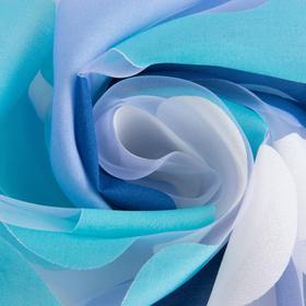 "Ткань тюлевая ""Калейдоскоп"" голубой, ш.280 см, дл.88 м, пл. 50 г/м2, 100% п/э"