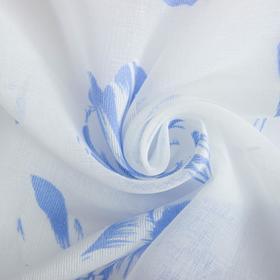 """Ткань тюлевая """"Цветочная иллюзия"""" голубой, ш.280 см, дл.50,3 м, пл. 100 г/м2, 100% п/э"""