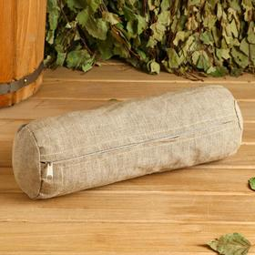 Roller with peeled straw, natural flax 30x10 cm