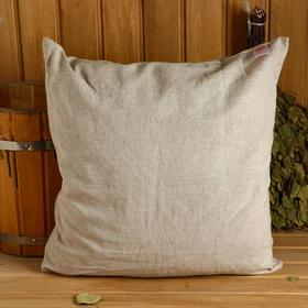 Pillow with peeled straw, natural linen, 50x50cm