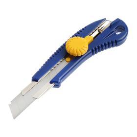 Нож усиленный KUBIS 04-03-0318, выдвижное лезвие, винтовой замок, 18 мм