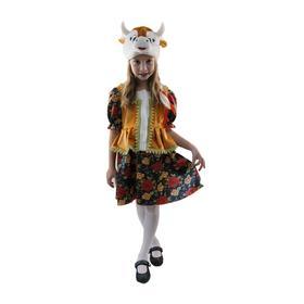 Карнавальный костюм «Коровка», плюш, платье, шапка-маска, 4-7 лет, рост 122-128 см