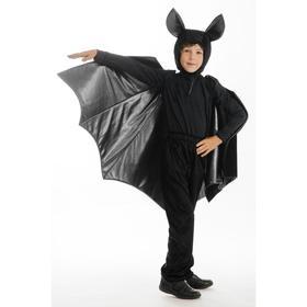 Карнавальный костюм «Летучая мышь», головной убор, крылья, рост 122-128 см