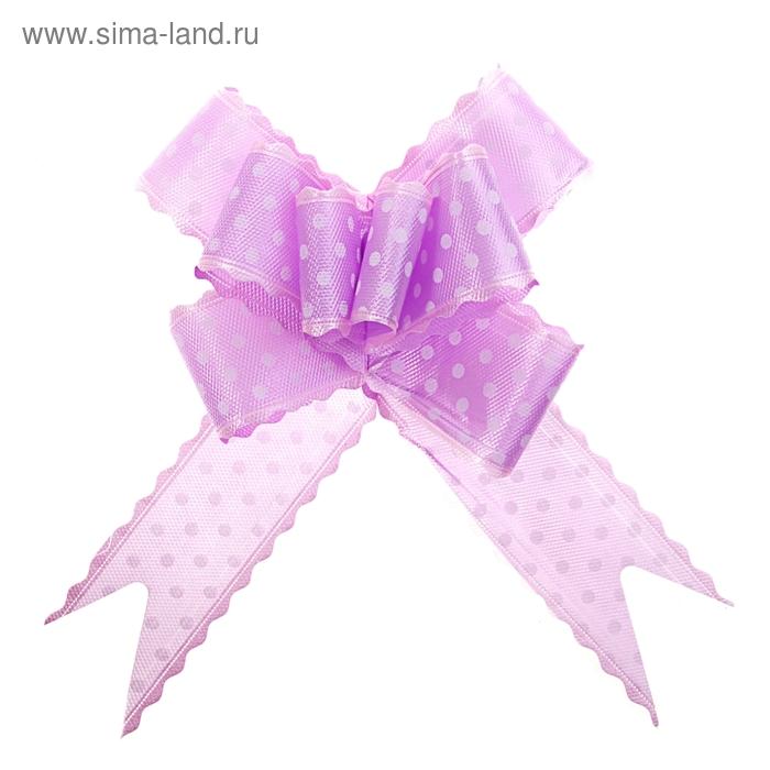 """Бант-бабочка №5 """"Горох"""", цвет фиолетовый"""