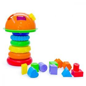 Развивающий набор «Пирамидка грибочек»