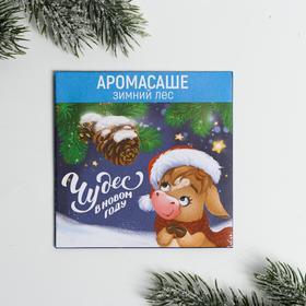 Аромасаше в конверте «Чудес в Новом году» зимний лес, 11 х 11 см