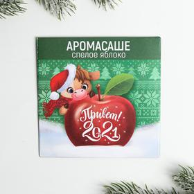 Аромасаше в конверте «Привет 2021!», яблоко 11 х 11 см