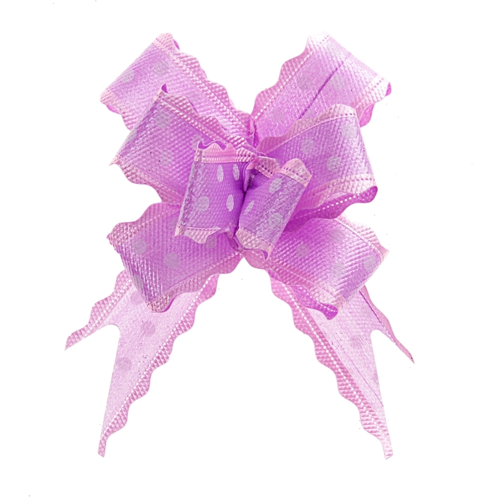 """Бант-бабочка №3 """"Горох"""", цвет фиолетовый"""