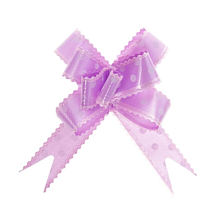 """Бант-бабочка №2,3 """"Горох"""", цвет фиолетовый"""