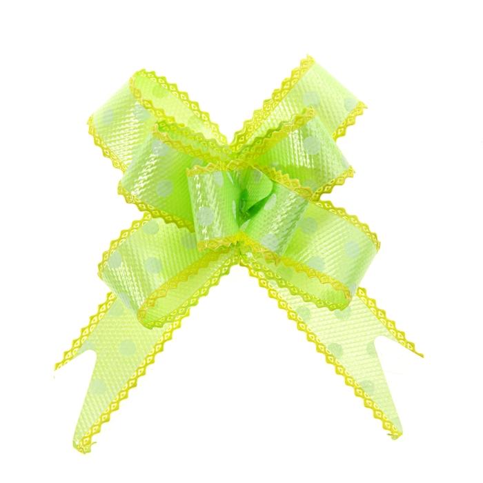 """Бант-бабочка №2,3 """"Горох"""", цвет зелёный"""