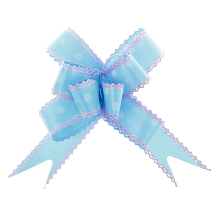 """Бант-бабочка №2,3 """"Горох"""", цвет голубой"""