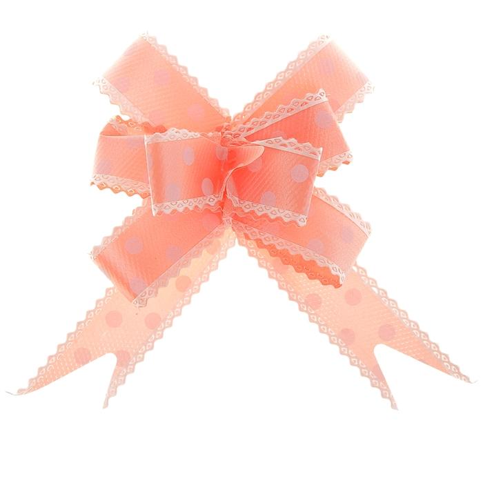"""Бант-бабочка №2,3 """"Горох"""", цвет оранжевый"""
